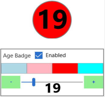 Age Badge selection